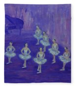 Ballerina Rehearsal Fleece Blanket