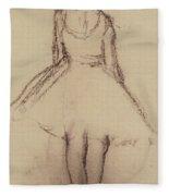 Ballerina Viewed From The Back  Fleece Blanket