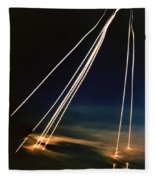 Ballistic Missile Paths Fleece Blanket