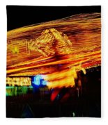 Ballons Ride At Night Fleece Blanket