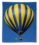 Balloon And The Moon Fleece Blanket