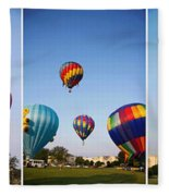 Balloon Festival Panels Fleece Blanket