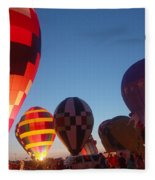 Balloon-glow-7783 Fleece Blanket