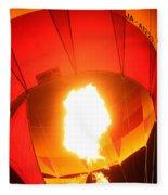Balloon-glow-7917 Fleece Blanket
