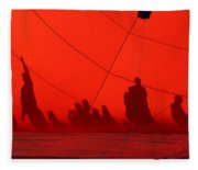 Balloon Shadows Fleece Blanket