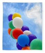 Balloons Against A Cloudy Sky Fleece Blanket