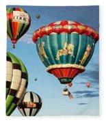 Balloons Away Fleece Blanket