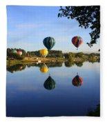 Balloons Heading East Fleece Blanket