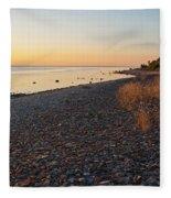Baltic Sea Coast Fleece Blanket