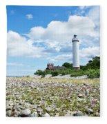 Baltic Sea Lighthouse Fleece Blanket