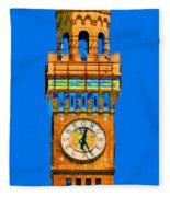 Baltimore Clock Tower Fleece Blanket