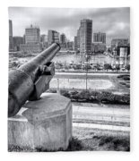 Baltimore Inner Harbor Skyline Fleece Blanket