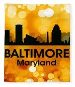 Baltimore Md 3 Fleece Blanket