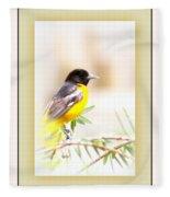 Baltimore Oriole 4348-11 - Bird Fleece Blanket