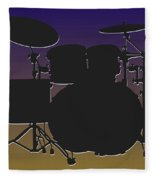 Baltimore Ravens Drum Set Fleece Blanket