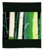 Bamboo Abstraction Fleece Blanket