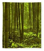 Bamboo Forest Twilight  Fleece Blanket
