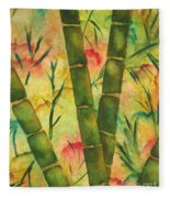 Bamboo Garden Fleece Blanket
