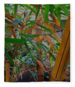 Bamboo Garden Fleece Blanket