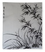 Bamboo Impression Fleece Blanket