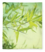 Bamboo In The Sun Fleece Blanket