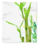Bamboo Stems And Leaves Fleece Blanket