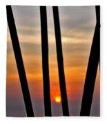 Bamboo Sunset Fleece Blanket