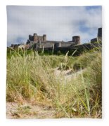 Bamburgh Castle From The Dunes Fleece Blanket