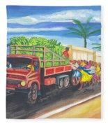 Banana Delivery In Cameroon 02 Fleece Blanket
