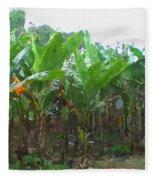 Banana Field Fleece Blanket