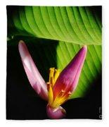 Banana Flower Fleece Blanket