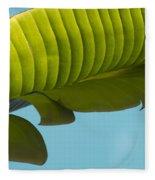Banana Leaf And Maui Sky Fleece Blanket
