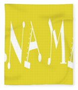 Banana Manna - Yellow - Color - Letter Art Fleece Blanket