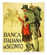 Banca Italiana Di Sconto, 1917 Fleece Blanket