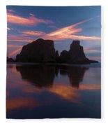 Bandon Beach Skies Fleece Blanket