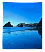 Bandon Blue Fleece Blanket