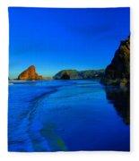 Bandon Blue And Gold Fleece Blanket