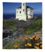 Bandon Lighthouse Fleece Blanket