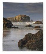 Bandon Sea Stacks Fleece Blanket