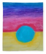 Bands Of Color Fleece Blanket