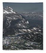 Banff Alberta Canada Fleece Blanket