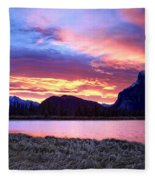 Banff Sunrise Six Minutes Later Fleece Blanket