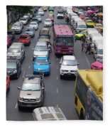 Bangkok Street View  Fleece Blanket