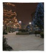 Bangor Maine Christmas Fleece Blanket
