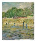 Bank Of The Seine Fleece Blanket