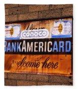 Bankamericard Welcome Here Fleece Blanket