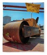 Banksys Steam Rollered Yogi Fleece Blanket
