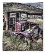 Bannack Ghost Town Truck - Montana Fleece Blanket
