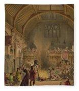 Banquet In The Baronial Hall, Penshurst Fleece Blanket