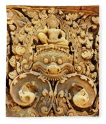 Banteay Srei Carving 01 Fleece Blanket